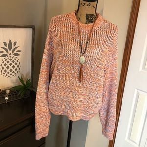 NWT Drop Shoulder Crew Neck Sweater